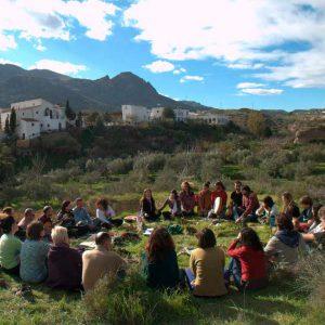 Espacio de convivencia en España: Cortijo Los Baños, localizado en Lucainena de las Torres, Almería (Andalucía).