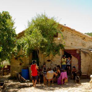 Ecoaldea Fraguas, ubicada en el termino municipal de Monasterio, Guadalajara (Castilla-La Mancha). ESPAÑA